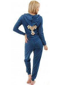 Designer Desirables Paillettenbesetztem Gold Cross Blaugrün Weichen Feinen Stricken Strampler Kleine Blau