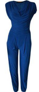 MyMixTrendz - Damen-Rollkragen-Krawatte Taille Ärmelloses Stretch-Fit-Overall (L (UK 12 EU 40 US 8), Royal Blue)