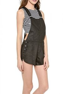 Qiyun Mode Frauen Schwarzer Baumwolle Fracht Design Gesamt Kurze Overallhosen S-Xxl Jumpsuits