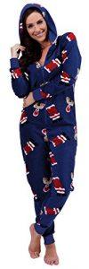 Damen-ErwachsenenstramplerGanzkrper-Schlafanzug-fr-Erwachsene-Schlafoverall-Onesie-Jumpsuit-HausanzugPyjama-Overall-Weihnachten-0-0
