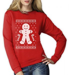 Gingerbread-Man-Lebkuchen-Lustiger-Ugly-Christmas-Sweater-Frauen-Sweatshirt-Small-Rot-0