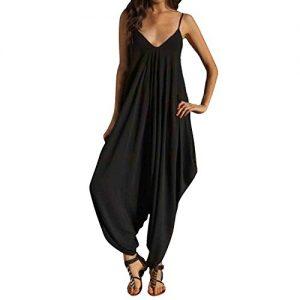 SUNNOW-Damenmode-Frauen-Jumpsuits-Hosen-Shorts-V-Ausschnitt-Beachwear-Overall-Harem-Pants-Sommer-0