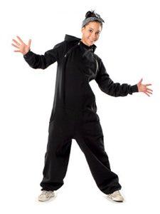 unmac-UNISEX-Chillsuit-Jumpsuit-schwarz-einzigartig-mit-zwei-Reiverschlssen-0-0