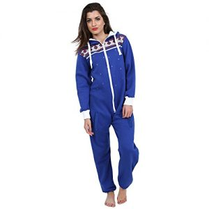 Juicy-Trendz-Dame-Frauen-Unisex-One-Zip-Onesie-Jumpsuit-Playsuit-Anzug-H-BLU-S-0