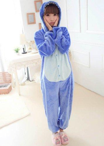 tier onesie pyjama blau stich kostme kigurumi schlafanzug