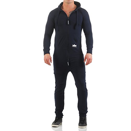 finchman herren jumpsuit lightning jogger jogging anzug overall onesie. Black Bedroom Furniture Sets. Home Design Ideas
